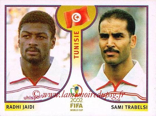 2002 - Panini FIFA World Cup Stickers - N° 569 - Radhi JAIDI + Sami TRABELSI (Tunisie)