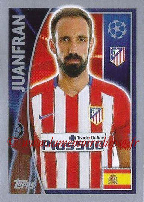 2015-16 - Topps UEFA Champions League Stickers - N° 181 - JUANFRAN (Club Atlético de Madrid)