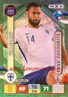 2018 - Panini Road to FIFA World Cup Russia Adrenalyn XL - N° FIN14 - Tim SPARV (Finlande) (Fans' Favourite)