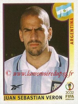 2002 - Panini FIFA World Cup Stickers - N° 395 - Juan Sebastian VERON (Argentine)