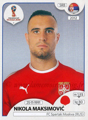 2018 - Panini FIFA World Cup Russia Stickers - N° 420 - Nikola MAKSIMOVIC (Serbie)