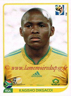 2010 - Panini FIFA World Cup South Africa Stickers - N° 040 - Kagisho DIKGACOI (Afrique du Sud)