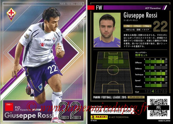 Panini Football League 2015 - PFL09 - N° 035 - Giuseppe ROSSI (Fiorentina) (Star +)