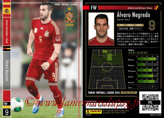 Panini Football League 2014 - PFL08 - N° 125 - Alvaro NEGREDO (Espagne)