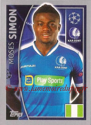 2015-16 - Topps UEFA Champions League Stickers - N° 548 - Moses SIMON (KAA Gent)