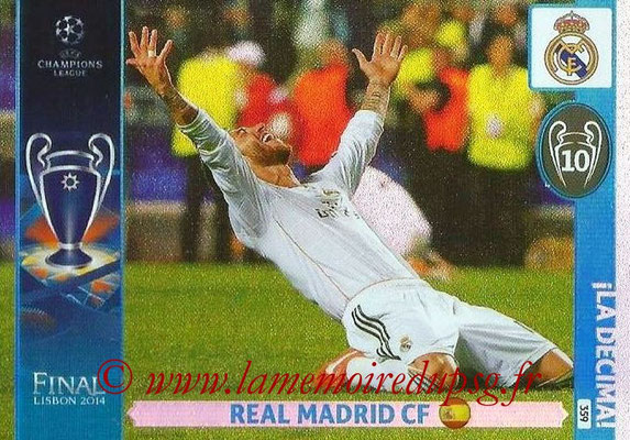 2014-15 - Adrenalyn XL champions League N° 359 - Real Madrid CF (La Decima)