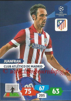 2013-14 - Adrenalyn XL champions League N° 057 - JUANFRAN (Club Atlético de Madrid)
