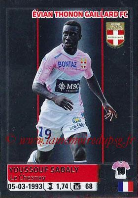 2014-15 - Panini Ligue 1 Stickers - N° 095 - Youssouf SABALY (Evian Thonon Gaillard FC)