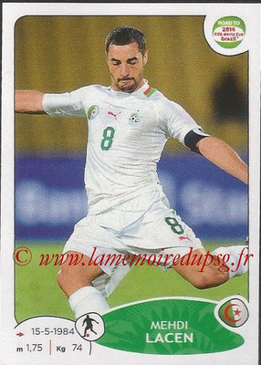 2014 - Panini Road to FIFA World Cup Brazil Stickers - N° 377 - Mehdi LACEN (Algérie)