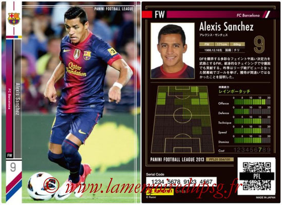 Panini Football League 2013 - PFL01 - N° 054 - Alexis Sanchez ( FC Barcelona )