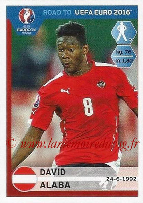 Panini Road to Euro 2016 Stickers - N° 195 - David ALABA (Autriche)