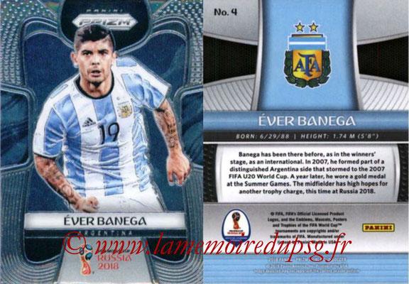 2018 - Panini Prizm FIFA World Cup Russia - N° 004 - Ever BANEGA (Argentine)