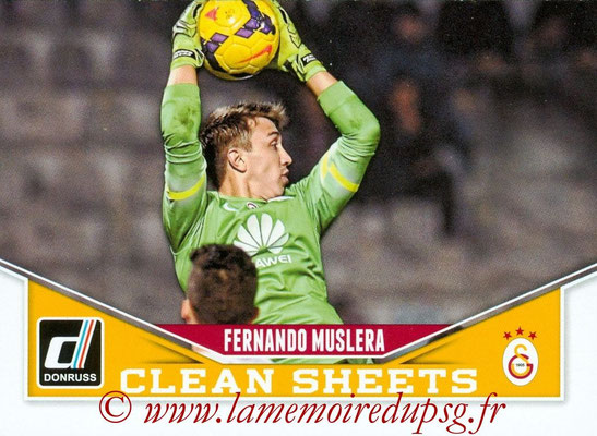 2015 - Panini Donruss Soccer - N° CS03 - Fernando MUSLERA (Galatasaray AS) (Clean Sheets)