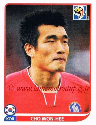 2010 - Panini FIFA World Cup South Africa Stickers - N° 155 - Cho WON-HEE (Corée du Sud)