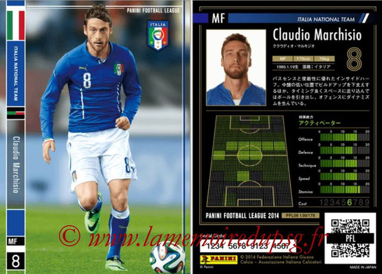 Panini Football League 2014 - PFL08 - N° 139 - Claudio MARCHISIO (Italie)