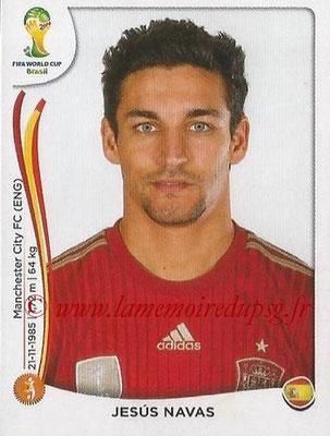 2014 - Panini FIFA World Cup Brazil Stickers - N° 122 - Jesus NAVAS (Espagne)