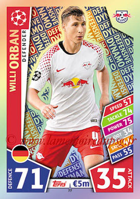 2017-18 - Topps UEFA Champions League Match Attax - N° 077 - Willi ORBAN (RB Leipzig) (Defensive Dynamo)