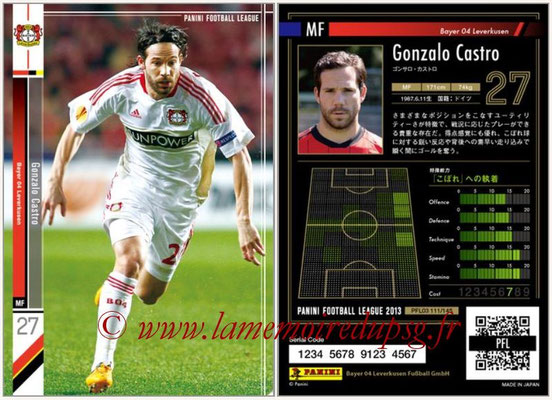Panini Football League 2013 - PFL03 - N° 111 - Gonzalo Castro (Bayer Leverkusen)