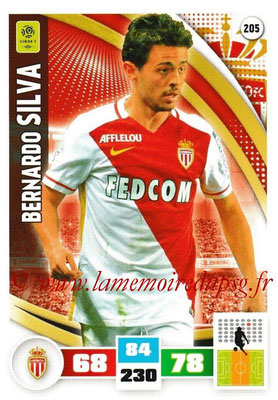2016-17 - Panini Adrenalyn XL Ligue 1 - N° 205 - Bernardo SILVA (Monaco)