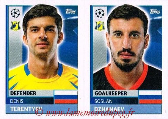 2016-17 - Topps UEFA Champions League Stickers - N° QFK 3-4 - Soslan DZHANAYEV + Denis TERENTJEV (FC Rostov)