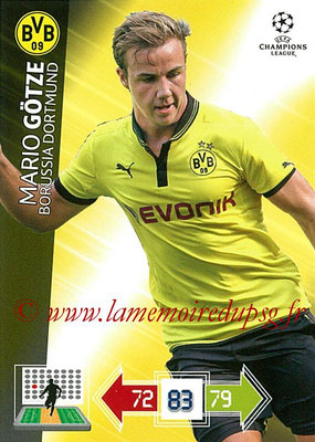 2012-13 - Adrenalyn XL champions League N° 079 - Mario GÖTZE (Borussia Dortmund)