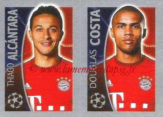 2015-16 - Topps UEFA Champions League Stickers - N° 391 - Thiago ALCANTARA + Douglas COSTA (FC Bayern Munich)