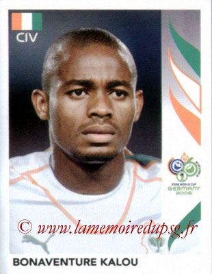 N° 198 - Bonaventure KALOU (2005-07, PSG > 2006, Cote d'Ivoire)