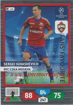 2013-14 - Adrenalyn XL champions League N° 301 - Sergei IGNASHEVICH (PFC Cska Moskva) (Fans' Favourite)