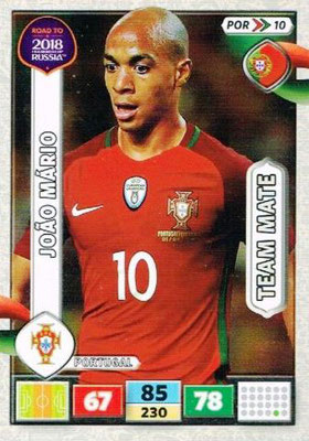2018 - Panini Road to FIFA World Cup Russia Adrenalyn XL - N° POR10 - Joao MARIO (Portugal)