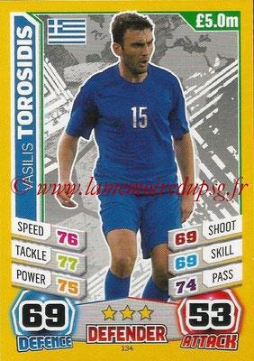 Topps Match Attax England 2014 - N° 134 - Vasilis TOROSIDIS (Grèce)
