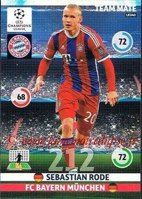 2014-15 - Adrenalyn XL champions League Update edition N° UE040 - Sebastien RODE (Bayern Munich)