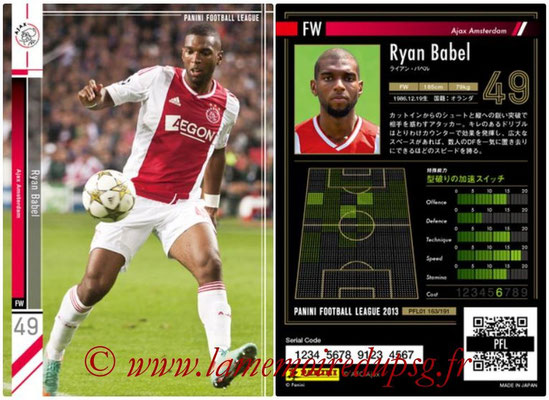 Panini Football League 2013 - PFL01 - N° 163 - Ryan Babel ( Ajax Amsterdam )