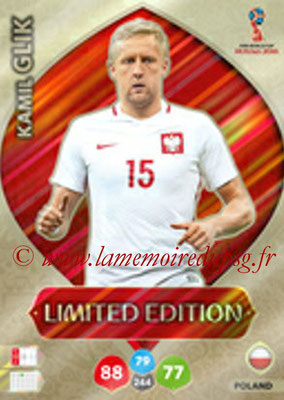 2018 - Panini FIFA World Cup Russia Adrenalyn XL - N° LE-KG - Kamil GLIK (Pologne) (Limited Edition)