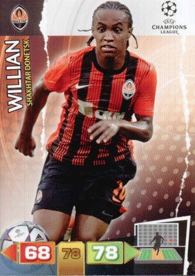 2011-12 - Panini Champions League Cards - N° 244 - WILLIAN (Shakhtar Donetsk)