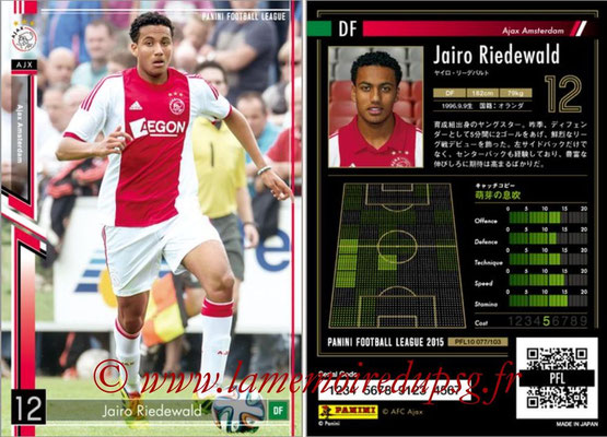 Panini Football League 2015 - PFL10 - N° 077 - Jairo RIEDEWALD (Ajax)