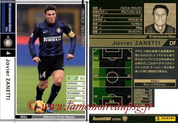 2013-14 - WCCF - N° EXT - Javier ZANETTI (FC Inter Milan) (Extra)