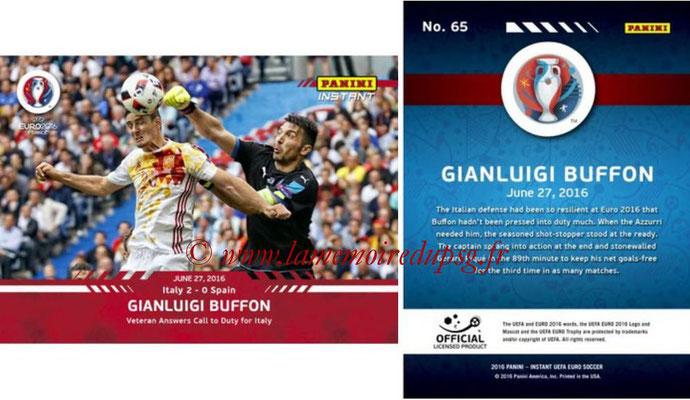 Panini Instant Euro 2016 - N° 065 - Gianluigi BUFFON