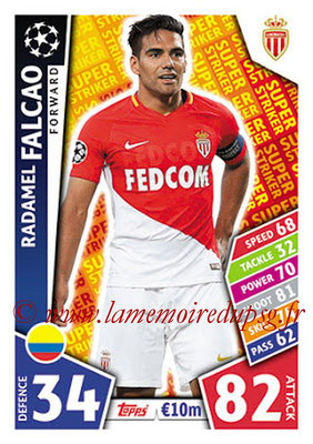 2017-18 - Topps UEFA Champions League Match Attax - N° SS14 - Radamel FALCAO (AS Monaco) (Super Strikers)