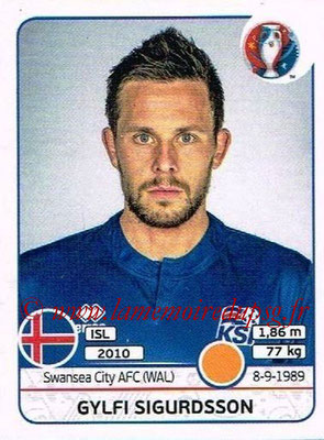 Panini Euro 2016 Stickers - N° 617 - Gylfi SIGURDSSON (Islande)