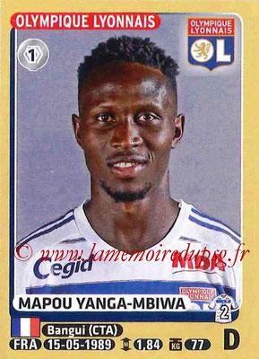 2015-16 - Panini Ligue 1 Stickers - N° 204 - Mapou YANGA-MBIWA (Olympique Lyonnais)