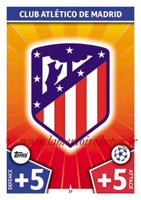 2017-18 - Topps UEFA Champions League Match Attax - N° 037 - Logo Club Atletico de Madrid (Club Badge)