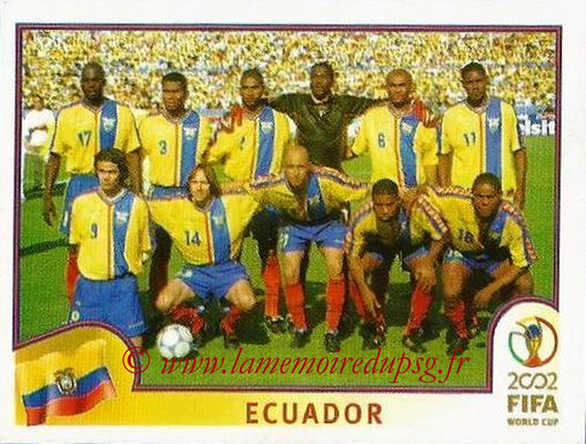 2002 - Panini FIFA World Cup Stickers - N° 514 - Equipe Equateur