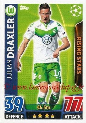 2015-16 - Topps UEFA Champions League Match Attax - N° N16 - Julian DRAXLER (VFL Wolfsburg) (Rising Stars) (Nordic Edition)