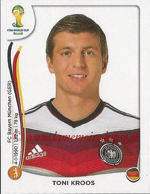 2014 - Panini FIFA World Cup Brazil Stickers - N° 498 - Toni KROOS (Allemagne)