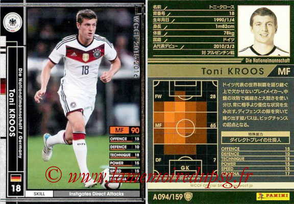 2015-16 - Panini WCCF - N° A094 - Toni KROOS (Allemagne)