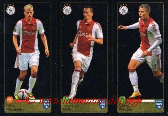 2015-16 - Panini FIFA 365 Stickers - N° 660-661-662 - Davy KLAASSEN + Arkadiusz MILIK + Viktor FISCHER (AFC Ajax)
