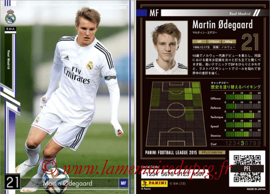 Panini Football League 2015 - PFL12 - N° 040 - Martin Odegaard (Real Madrid)
