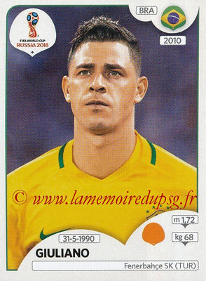 2018 - Panini FIFA World Cup Russia Stickers - N° 366 - GIULIANO (Bresil)