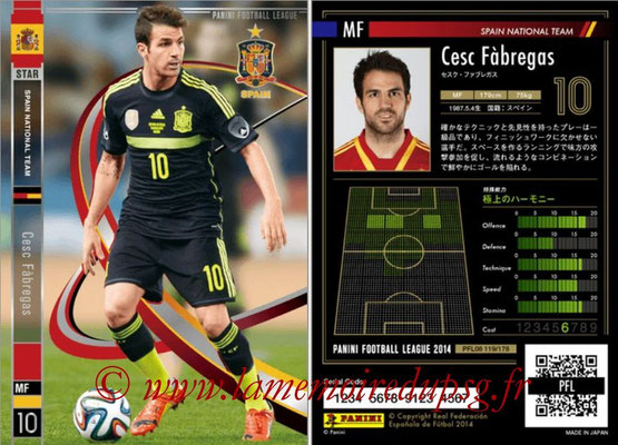 Panini Football League 2014 - PFL08 - N° 119 - Cesc FABREGAS (Espagne) (Star)