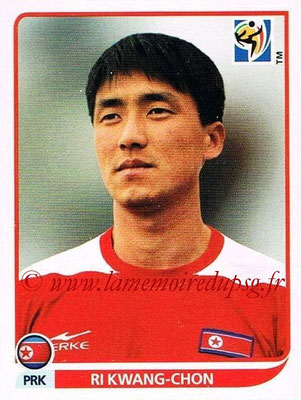 2010 - Panini FIFA World Cup South Africa Stickers - N° 510 - Ri KWANG-CHON (Corée du Nord)